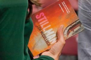 The Stillman Book in hand